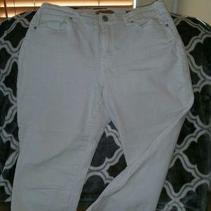 NINE WEST Vintage American Womens White Boho Jeans